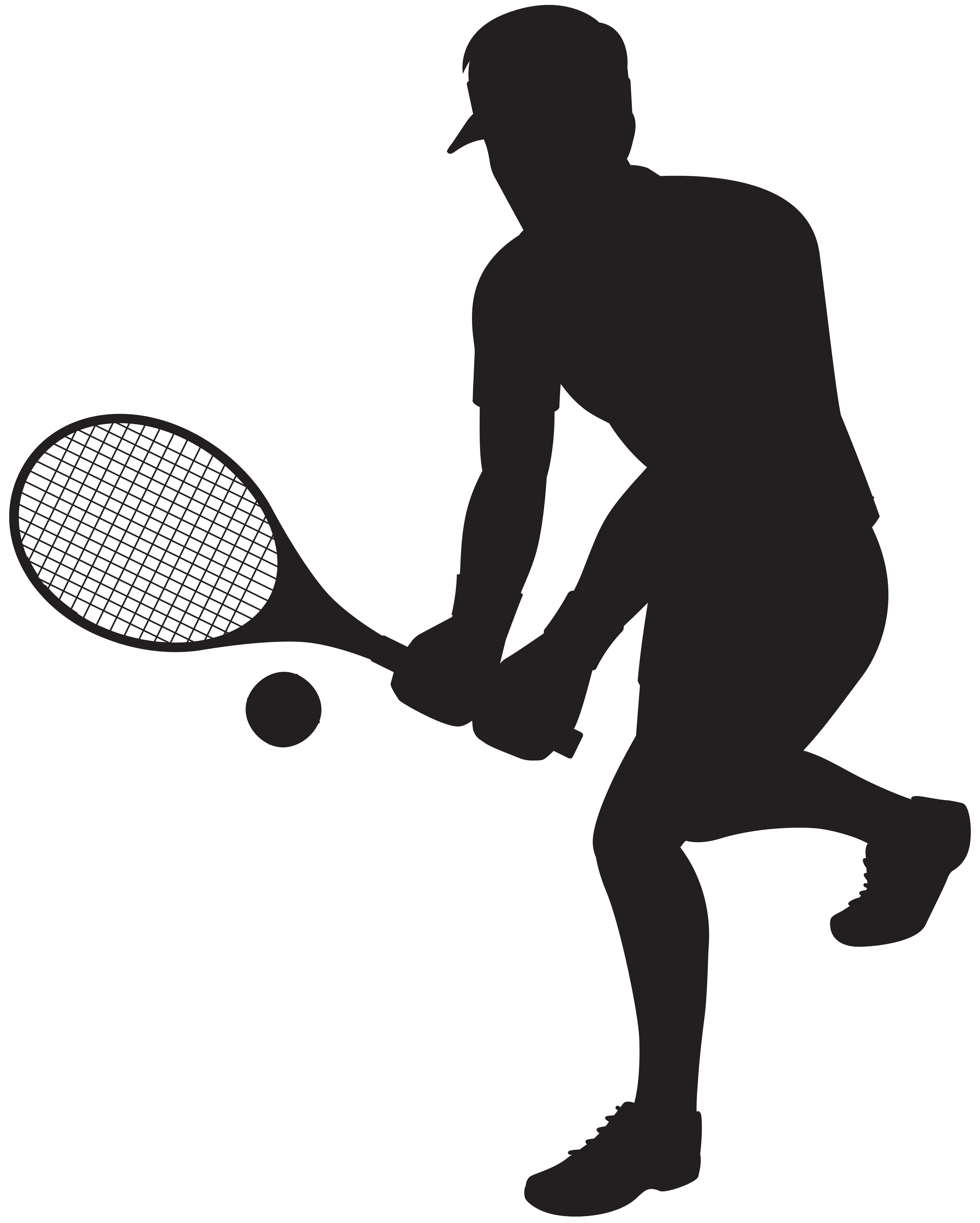 Tennis valentines clipart png transparent library Tennis Player Silhouette Clip Art Image | Gallery ... png transparent library