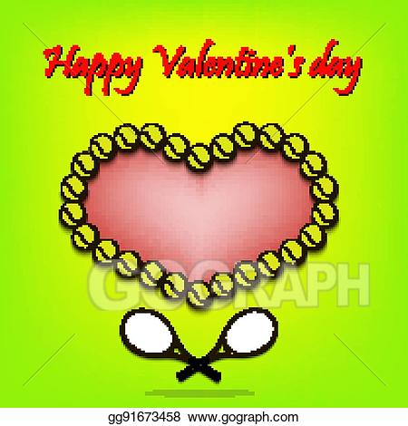 Tennis valentines clipart png free stock Vector Stock - Valentine\'s day and heart from tennis balls ... png free stock