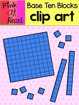 Tens base ten block clipart clipart freeuse stock Base Ten Blocks Clip Art FREEBIE clipart freeuse stock