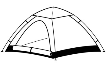 Tent and stars clipart black and white stock Black And White Camping Clipart | Free download best Black ... stock