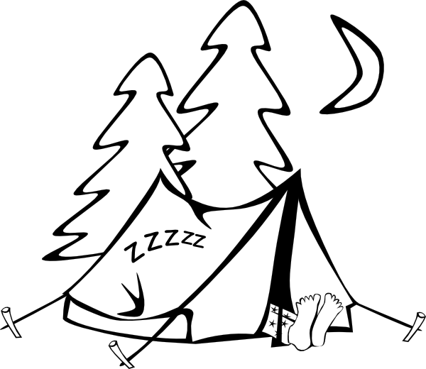Tent and stars clipart black and white clip art royalty free download Sleeping In A Tent Clip Art at Clker.com - vector clip art ... clip art royalty free download
