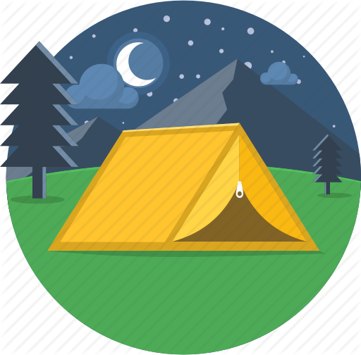Tent and stars clipart clip black and white stock \'Camping and Adventure- Part 1\' by popcornarts clip black and white stock