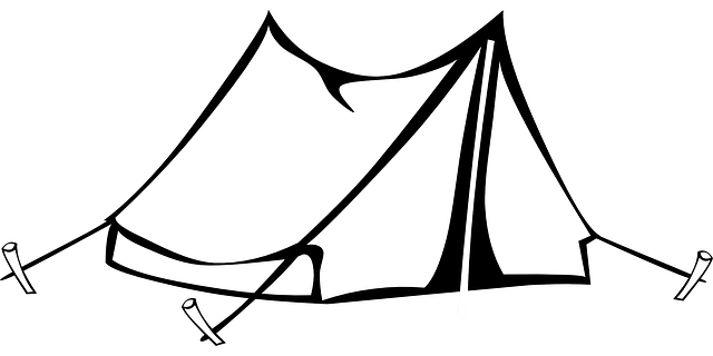 Tent images clipart clipart black and white stock Camping Tent Clipart transparent PNG - StickPNG clipart black and white stock