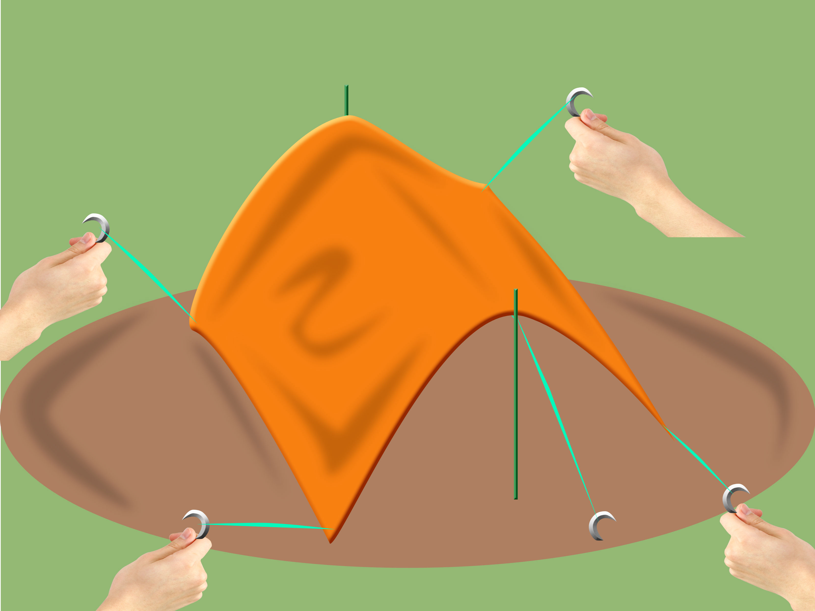 Tent tarp clipart vector library stock How to Pitch a Basha (Tarp) Tent: 6 Steps (with Pictures) vector library stock