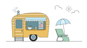 Tent trailer camping on lake clipart clip art library Camper Free Vector Art - (3,043 Free Downloads) clip art library