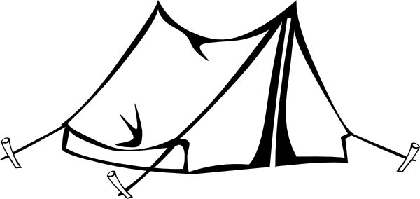 Tent and stars clipart black and white jpg library library Tent Clipart Black And White | Free download best Tent ... jpg library library