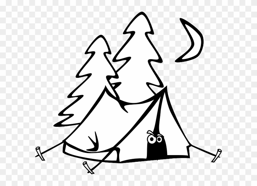 Tents black and white clipart transparent library Tent Clip Art - Black And White Tents - Png Download (#618 ... transparent library