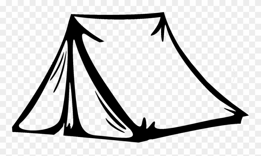 Tents black and white clipart jpg library download Camping Tents Clipart - Png Download (#374117) - PinClipart jpg library download