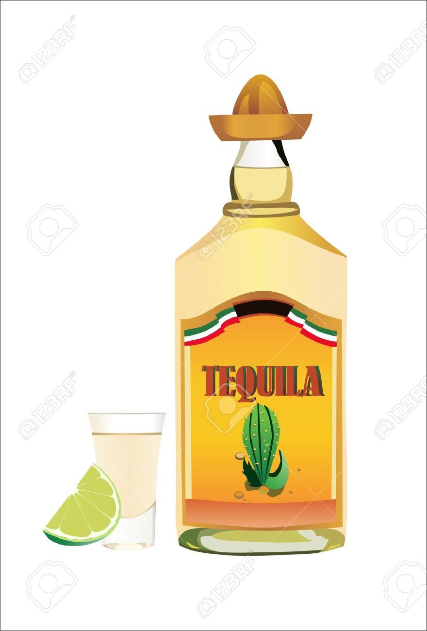 Tequila bottles clipart banner black and white download Tequila bottle clipart 4 » Clipart Portal banner black and white download