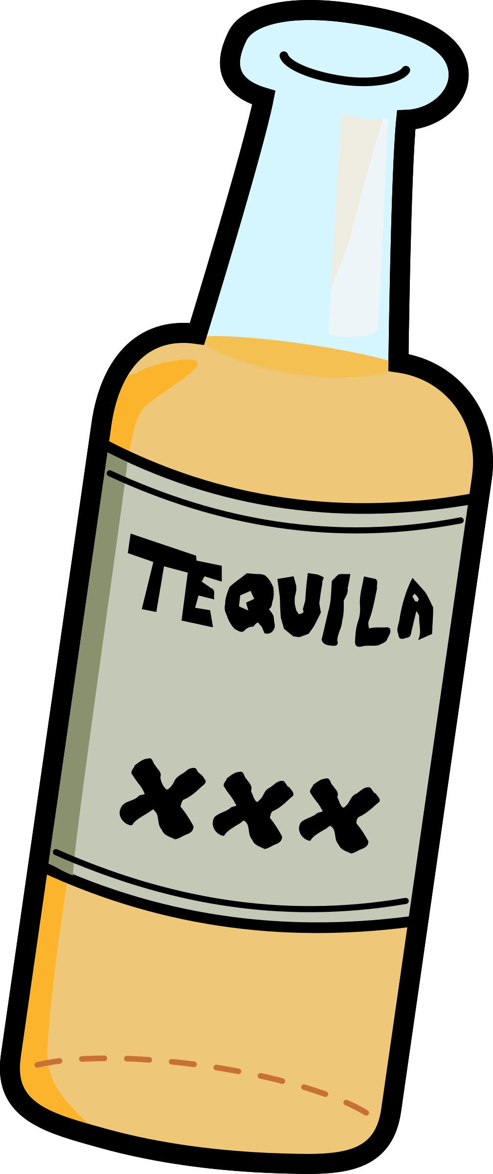 Tequila bottles clipart png freeuse library Bottle of Hard Tequila vector clipart image - Free stock ... png freeuse library
