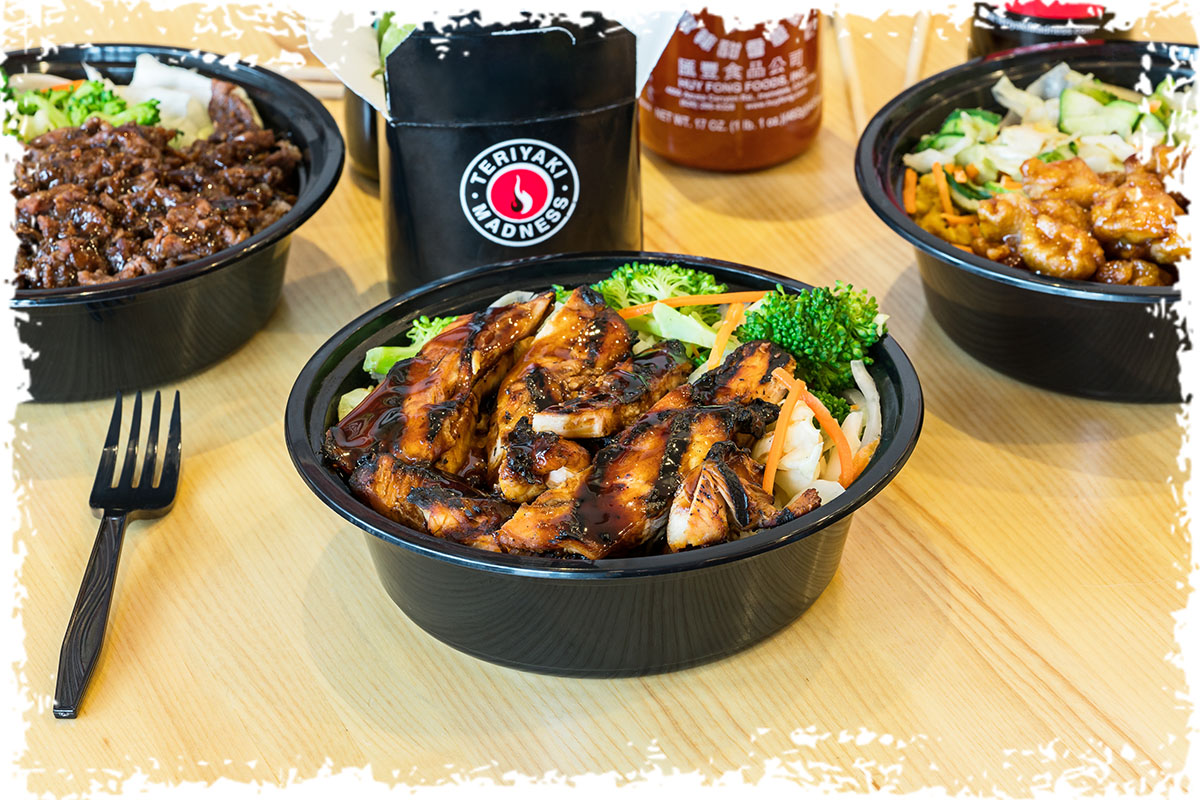 Teriyaki chicken asian bowl clipart picture black and white library Menu | Teriyaki Madness picture black and white library