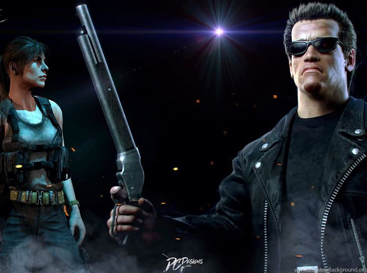 Terminator 2 judgment day clipart image transparent stock Arnold Schwarzenegger Fate/stay Night Sarah Connor ... image transparent stock