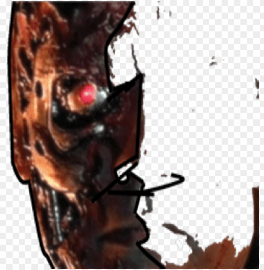Terminator clipart effects png library stock terminator face png - terminator face effect PNG image with ... png library stock