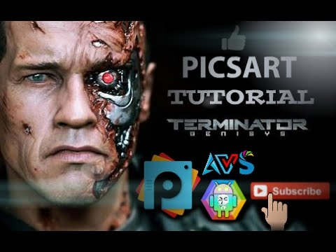 Terminator clipart effects clip black and white stock World best mobile editing app How to Make Terminator Face | Best PicsArt  Studio Editing clip black and white stock