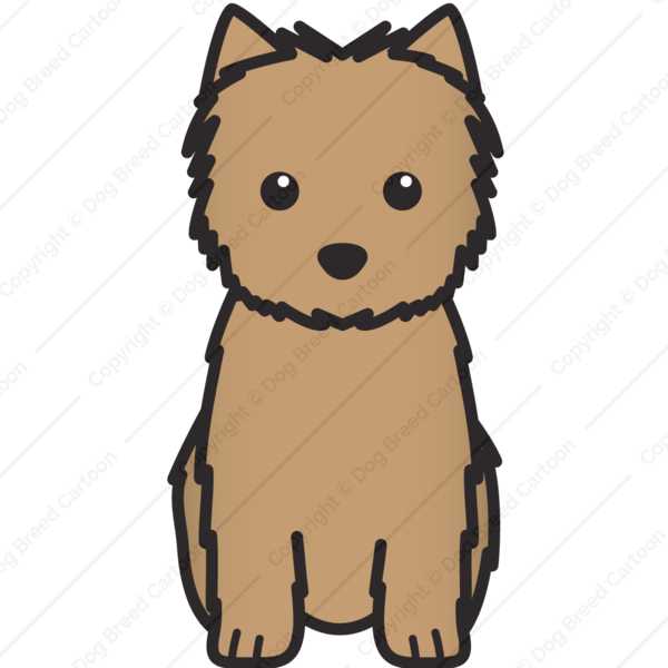 Terrier dog clipart clip royalty free Cairn Terrier | Linear Edition | Dog Breed Cartoon | Download Your ... clip royalty free
