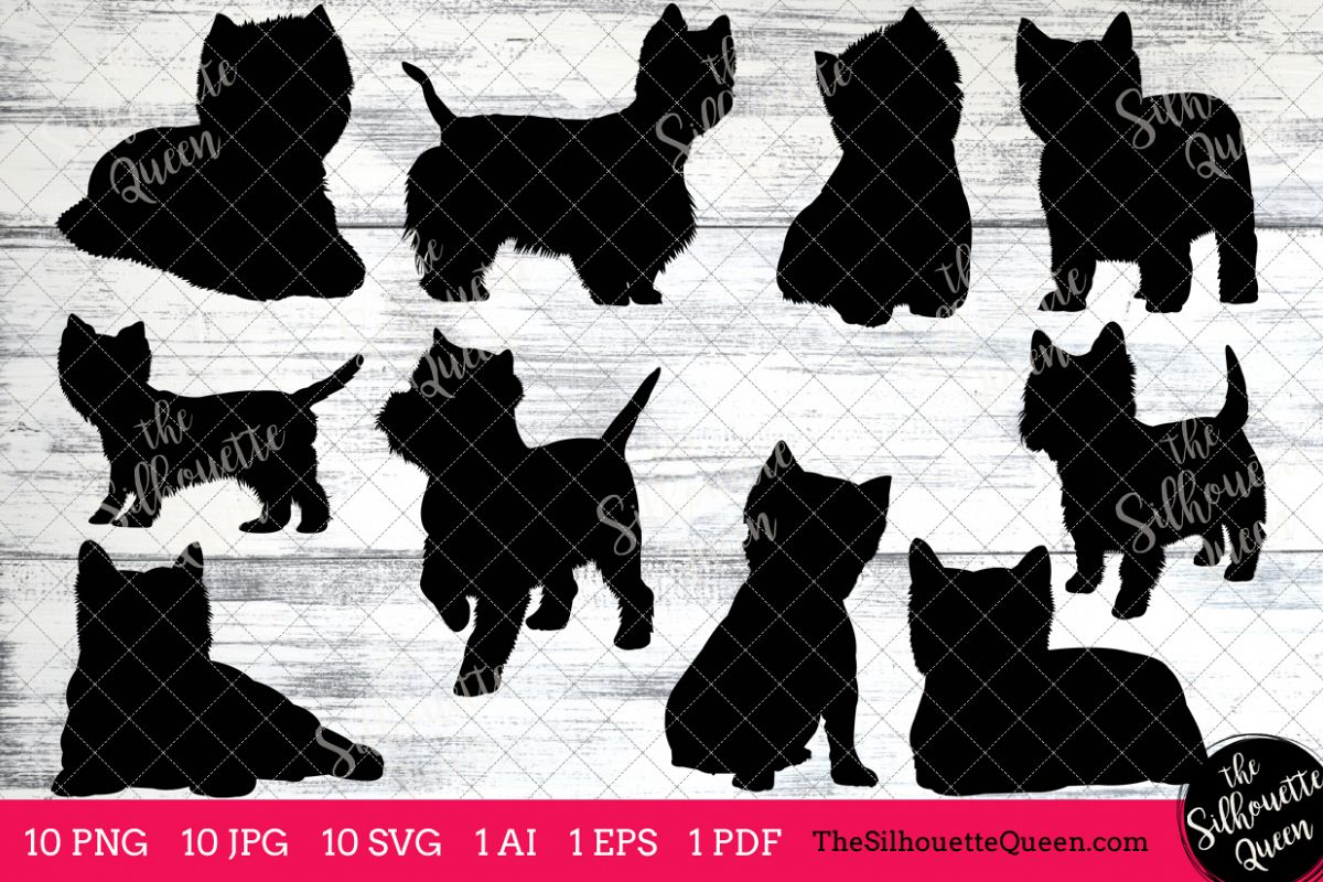 Terrier silhouette clipart jpg library library West Highland Terrier Dog Silhouette Clipart Clip Art (AI ... jpg library library