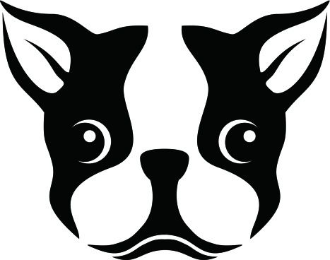 Terrier silhouette clipart clip art transparent download Boston Terrier Silhouette Stencil Clipart … | leather ... clip art transparent download