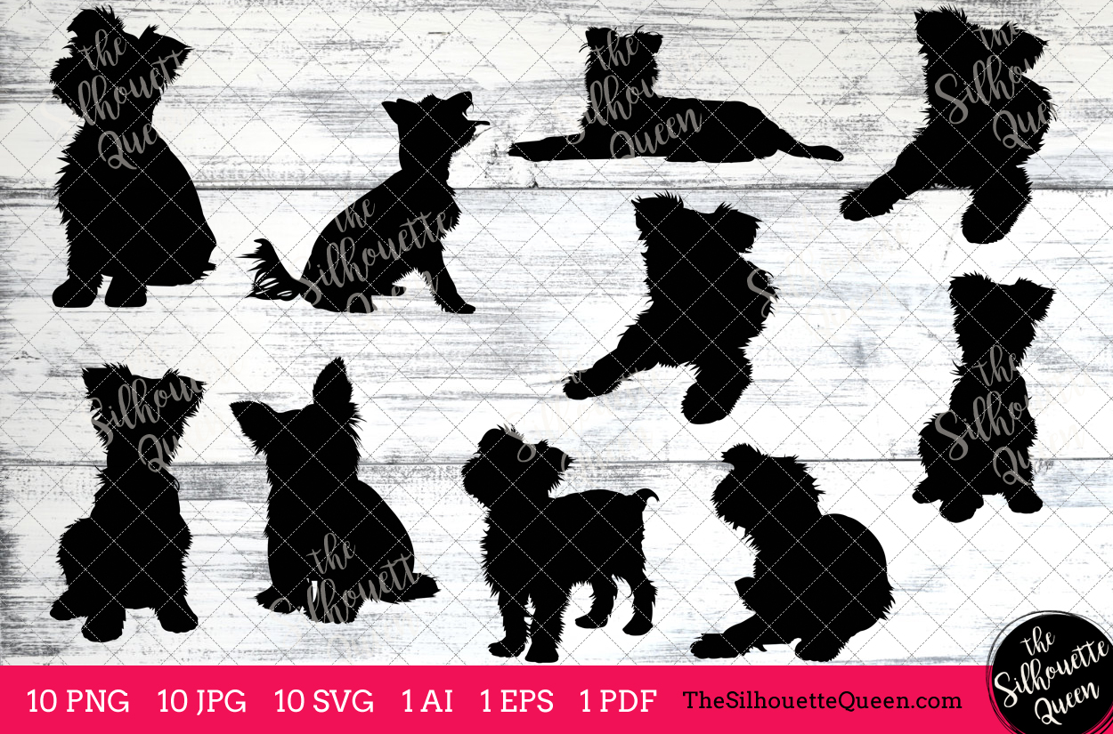 Terrier silhouette clipart image library stock Yorkshire Terrier Dog Silhouette Clipart Clip Art (AI, EPS ... image library stock
