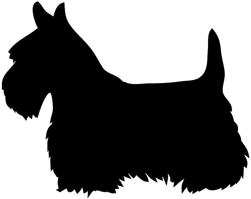 Terrier silhouette clipart clip freeuse library Clip Art Festive Scottie Scottish Aberdeen Terrier Puppy Dog ... clip freeuse library