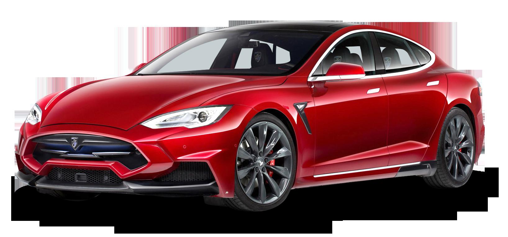 Tesla car clipart clipart freeuse stock Tesla Model S Red Car PNG Image - PurePNG   Free transparent CC0 PNG ... clipart freeuse stock