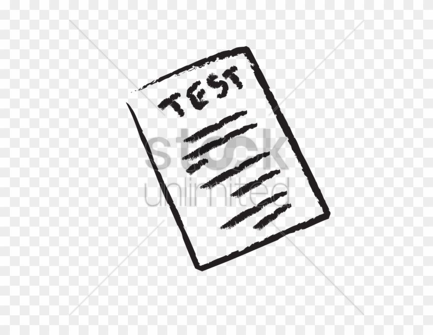 Test black and white clipart image free A Test Paper Vector Image Clipart Paper Examination ... image free