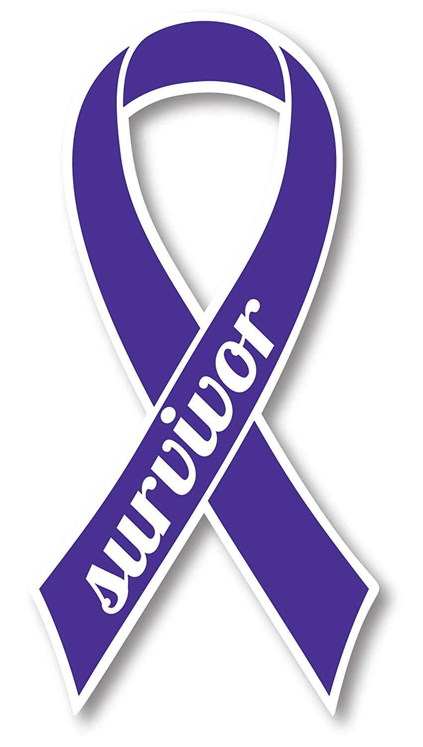 Testicular cancer awareness ribbon clipart clip free download Violet Non Hodgkins Lymphoma and Testicular Cancer Suvivor Ribbon Car  Magnet Decal Heavy Duty Waterproof clip free download