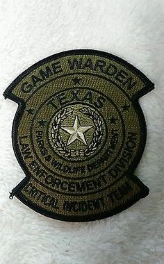 Texas game warden badge black and white clipart