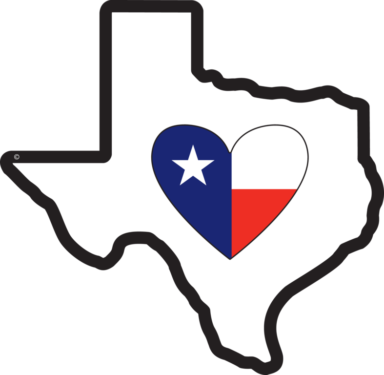 Texas heart clipart image library download Texas Heart Clipart (11+) image library download