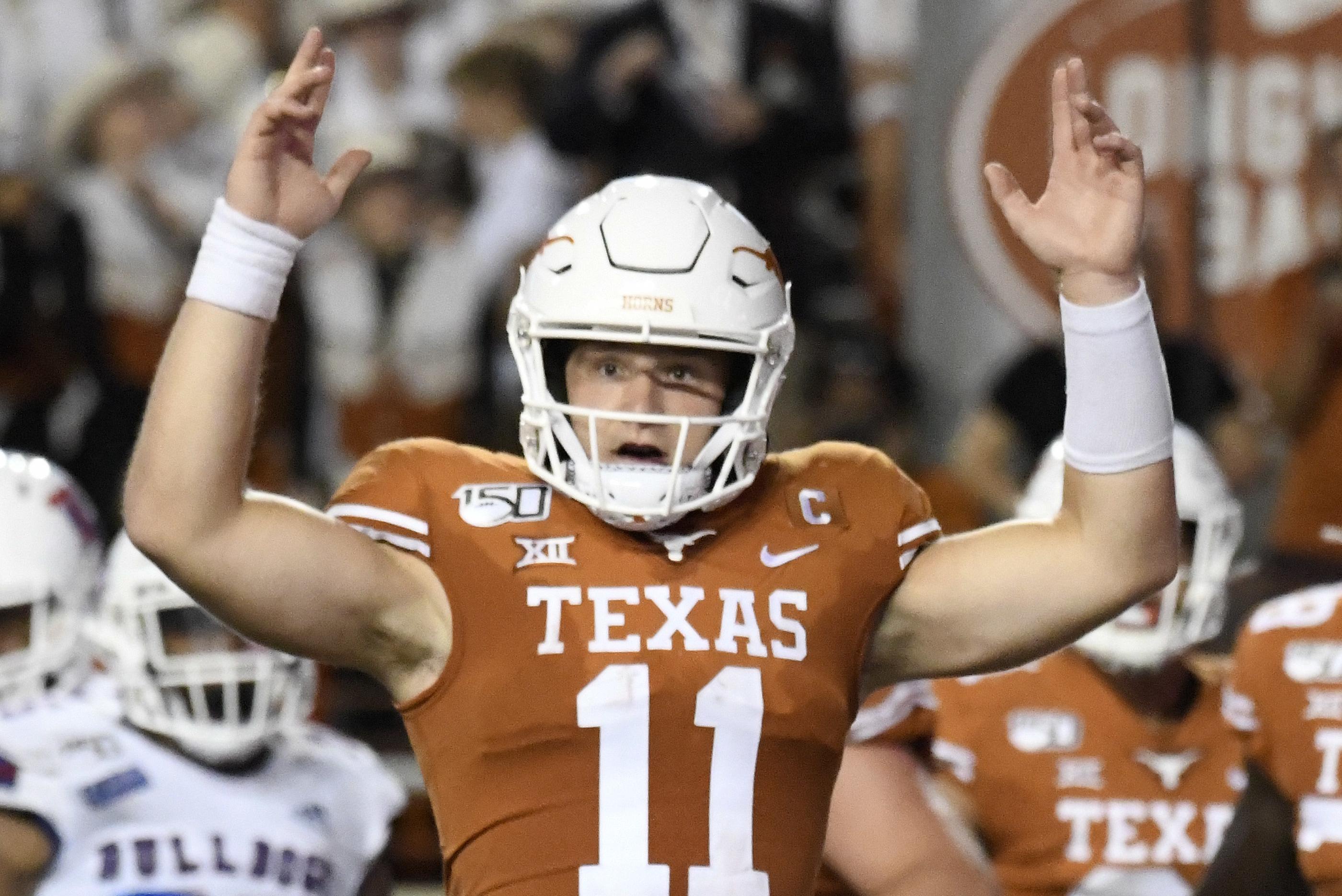 Texas longhorns ncaa football white helmet logo clipart image freeuse Texas Longhorns Football | Bleacher Report | Latest News ... image freeuse