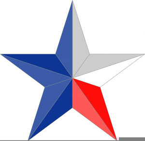 Texas star clipart vector picture freeuse library Texas Lone Star Clipart | Free Images at Clker.com - vector ... picture freeuse library