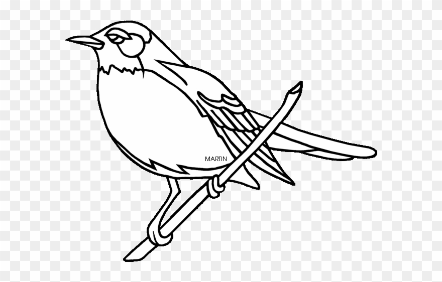 Texas state bird clipart black and white siloette image library stock Download American Robin Clipart - Michigan State Bird ... image library stock