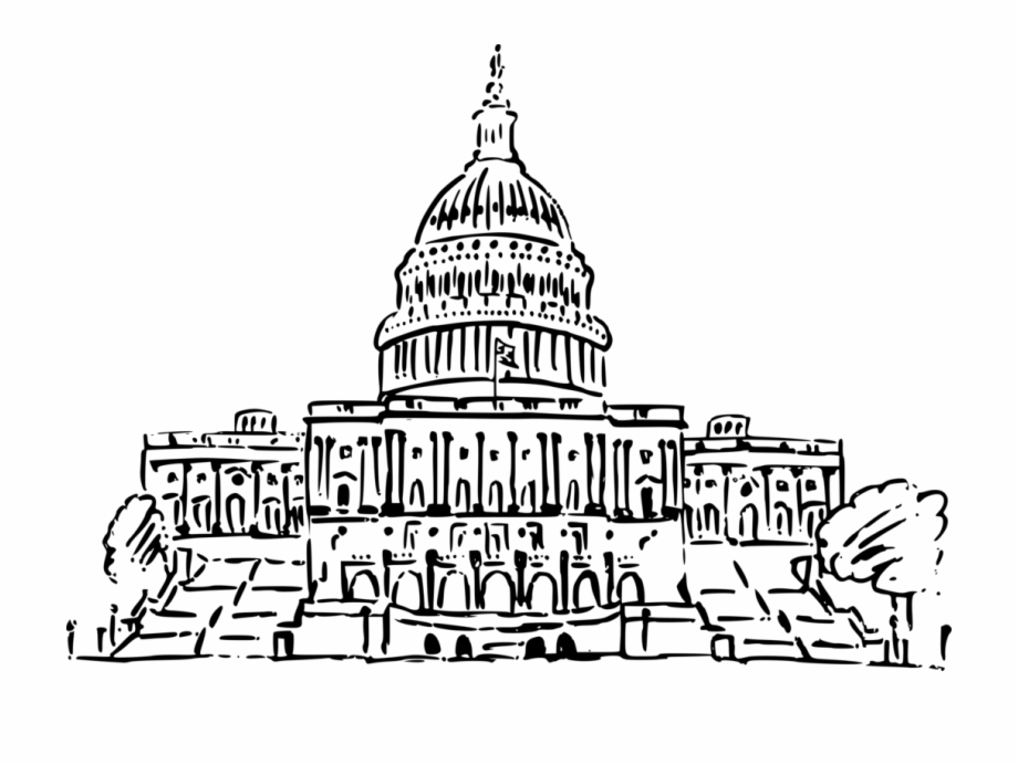 Captial building clipart black and white clip free United States Capitol White House Texas State Capitol - Us ... clip free