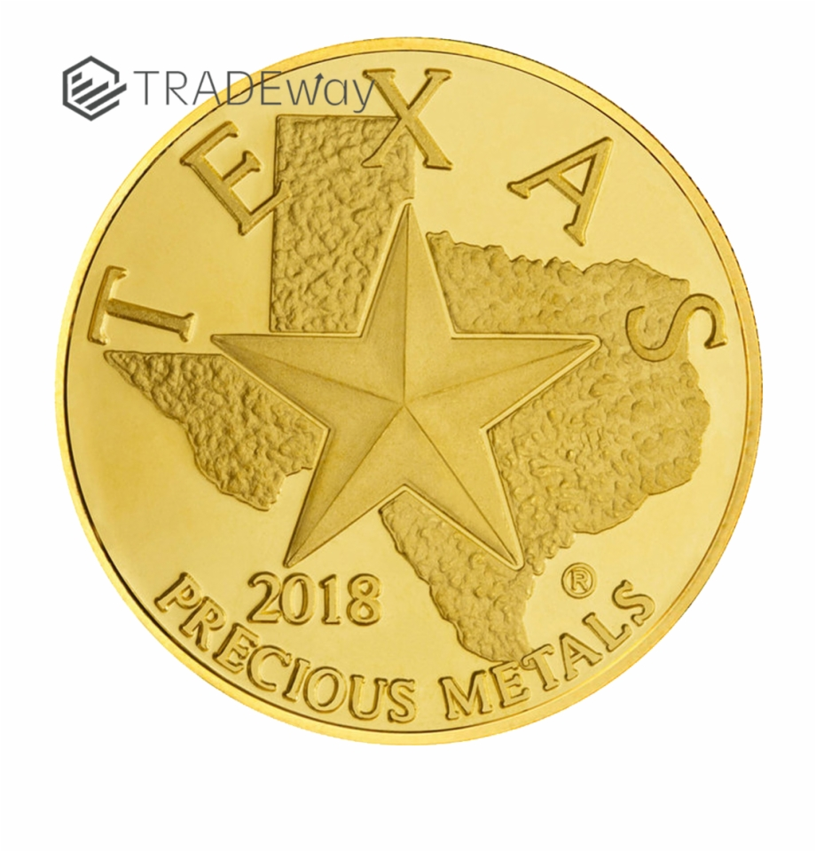 Texas state quarter clipart png clipart black and white download Tw 2018 Texas Gold Round Obverse - Coin Free PNG Images ... clipart black and white download