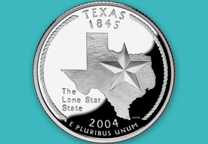 Texas state quarter clipart png image How Each State Decided What to Put on Its Commemorative ... image