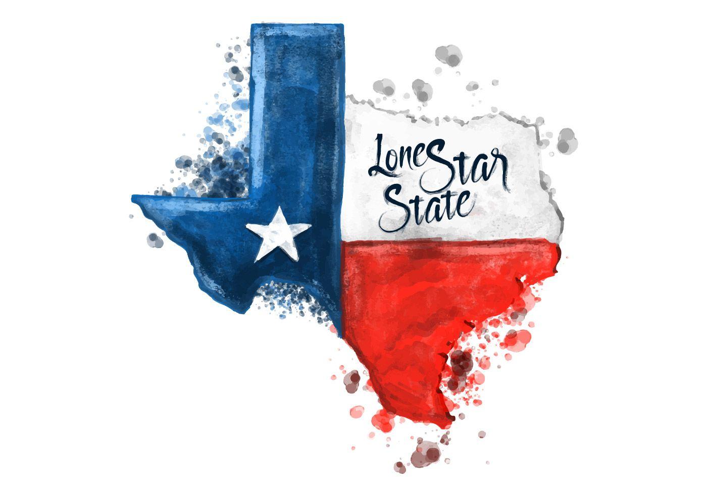 Texas trooper heart family clipart freeuse stock Free Texas Map Watercolor Vector   Texas Logos in 2019 ... freeuse stock