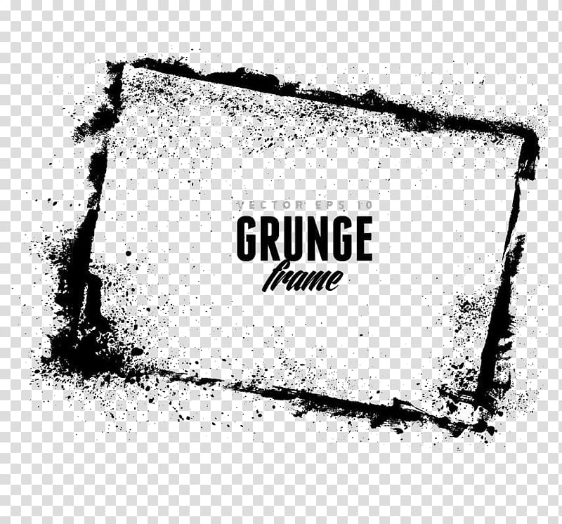 Text hd clipart graphic royalty free download Grunge frame text, Korean splash ink HD material transparent ... graphic royalty free download
