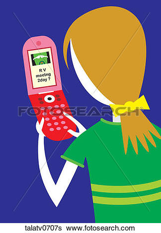 Text message clip art clip free download Stock Illustration of Woman Sending a Text Message talatv0707s ... clip free download