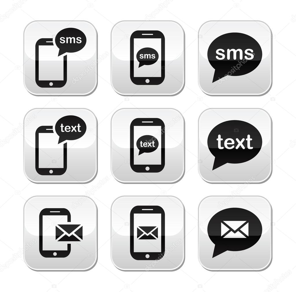 Text message icon clipart vector transparent download Mobile sms text message mail buttons set — Stock Vector © RedKoala ... vector transparent download