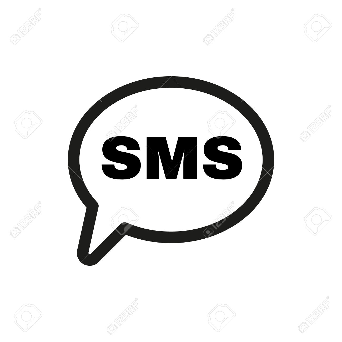 Text message icon clipart svg freeuse The Sms Icon. Text Message Symbol. Flat Vector Illustration ... svg freeuse