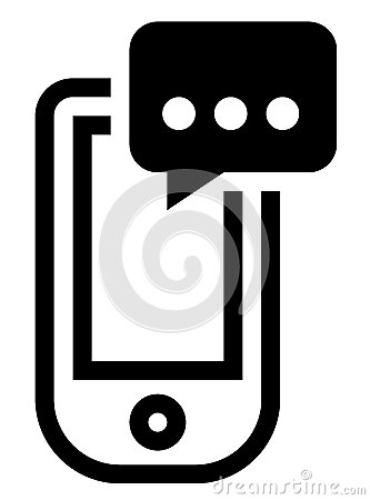 Text message icon clipart clip black and white Phone With Message Icon Stock Photos - Image: 38624123 clip black and white