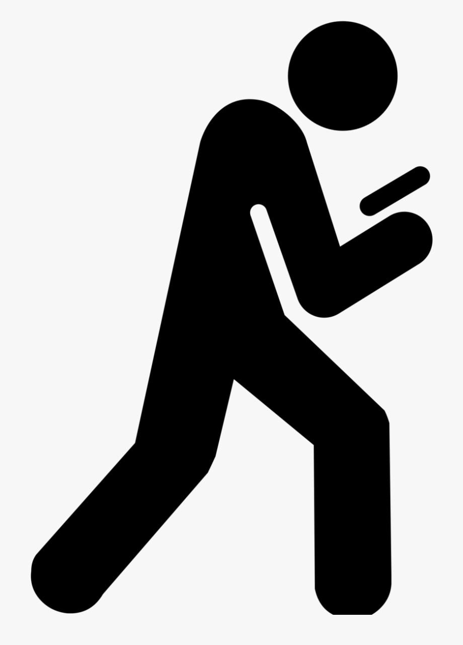 Texting clipart black and wihte clip freeuse stock Learning Objectives - Texting And Walking Icon #1670109 ... clip freeuse stock