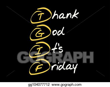 Tgif text clipart banner royalty free Clip Art Vector - Tgif - thank god it\'s friday. Stock EPS ... banner royalty free
