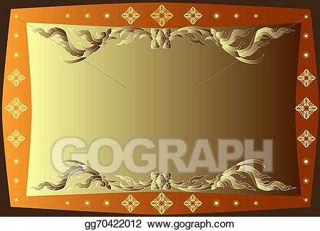 Thai border clipart vector free stock Stock Illustrations - Pattern thai border. Stock Clipart ... vector free stock