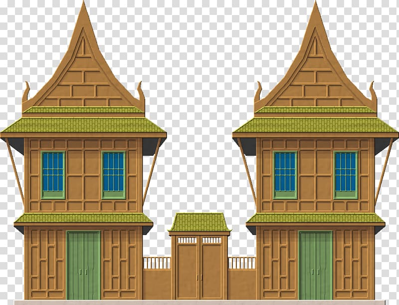 Thai house clipart