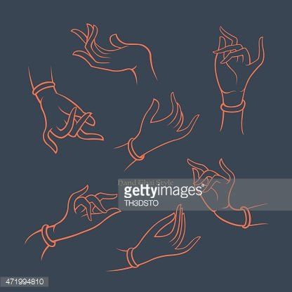 Vector Hand Thai Style Collection, Decoration Web Design ... vector royalty free library