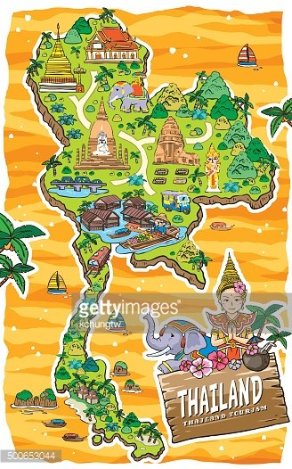 Thailand travel clipart picture black and white stock Adorable Thailand Travel Map premium clipart - ClipartLogo.com picture black and white stock