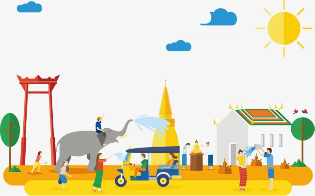 Thailand travel clipart picture Yellow Thailand Travel, Travel Clipart, Yellow, Cartoon PNG ... picture