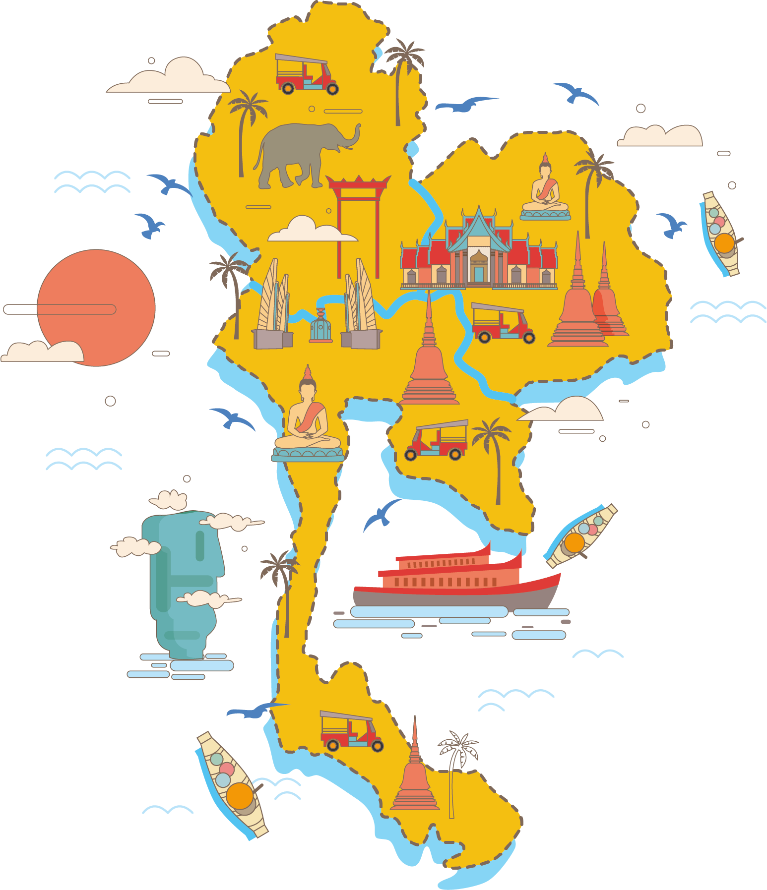 Thailand vector clipart vector freeuse Download Area Thailand Vector Art Map Free Clipart HQ HQ PNG ... vector freeuse