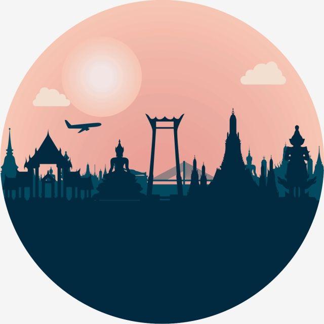 thailand,bangkok,vector,landmark,illustration,thai,travel ... clip art library