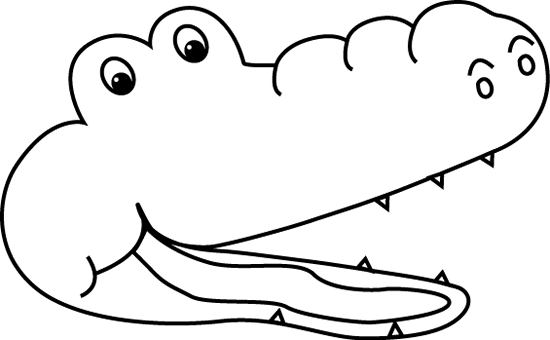 Than clipart black and white png freeuse download Alligator black and white alligator outline clipart 4 ... png freeuse download